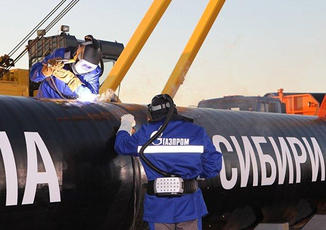 """俄气年底前将为""""西伯利亚力量""""管道建设增拨10亿美元"""