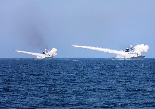 三亚海域军事训练提前结束18日台湾海峡实弹演习