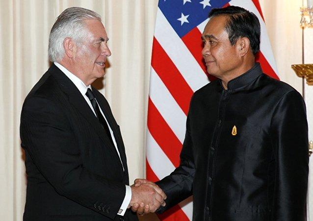 泰國總理與蒂勒森