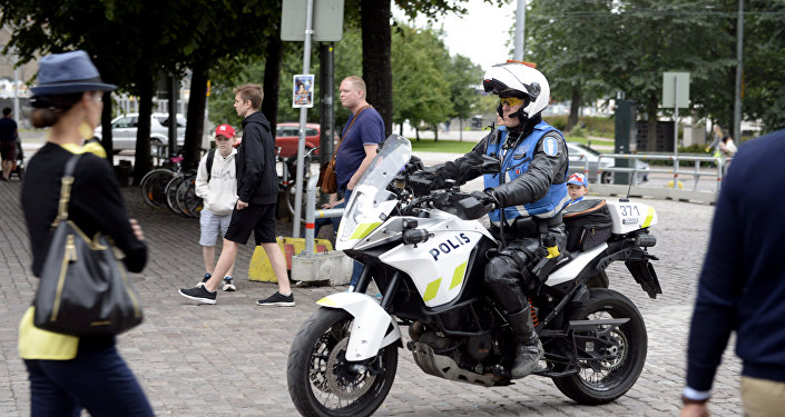 芬兰图尔库市的警察