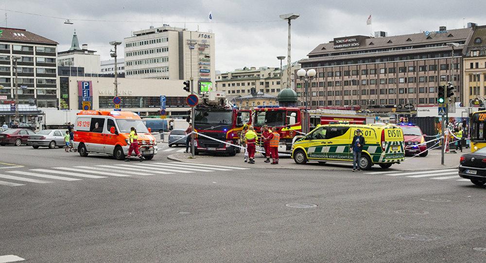 芬兰警方:芬兰图尔库袭击路人案嫌犯被收押