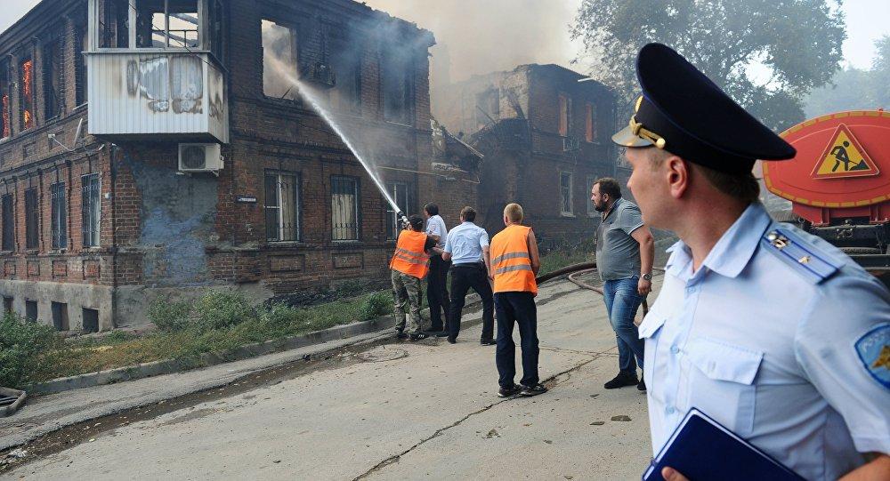 俄检察院将调查顿河畔罗斯托夫火灾起火原因