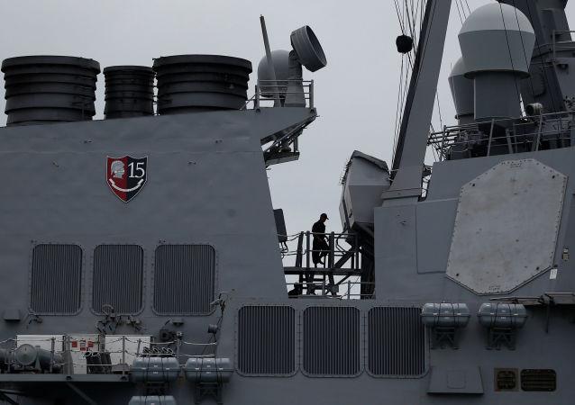 美国研究驱逐舰碰撞事故发生是否系因暗中破坏和网络干扰