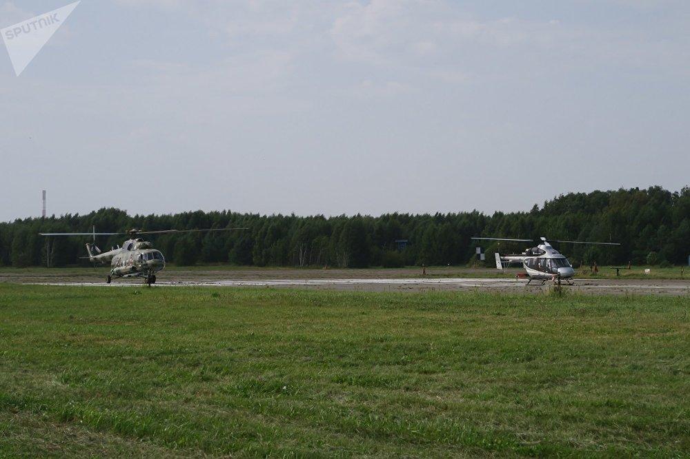直升机在交付客户前在这里进行地面和飞行测试。