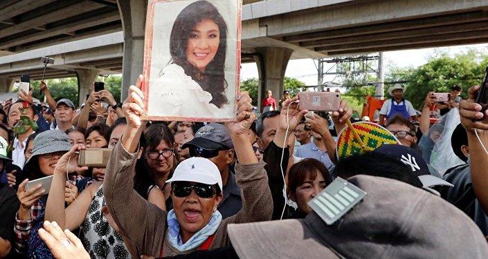 泰國紅衫軍領袖:前總理英拉∙西那瓦支持者將原諒其逃離出境行為