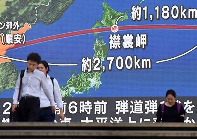 朝鮮發射導彈