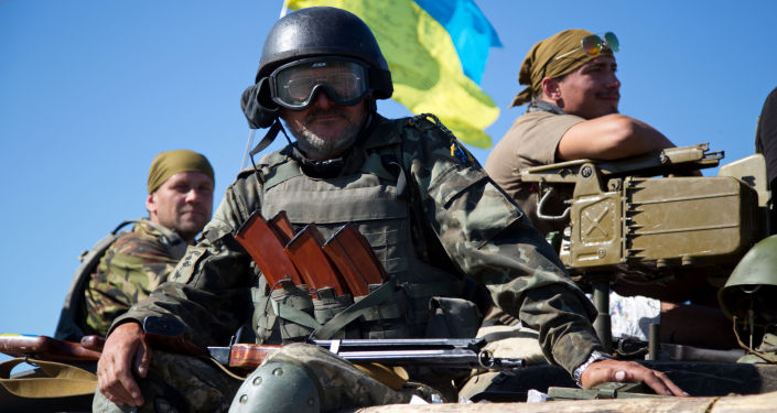 烏克蘭士兵在頓巴斯