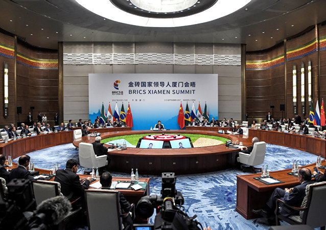 BRICS leaders attend the BRICS summit in Xiamen, China