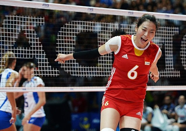 中國女排大冠軍杯3:2戰勝巴西