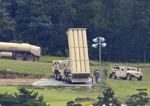 美国萨德反导系统在韩国