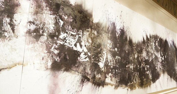 绘画作品《河》