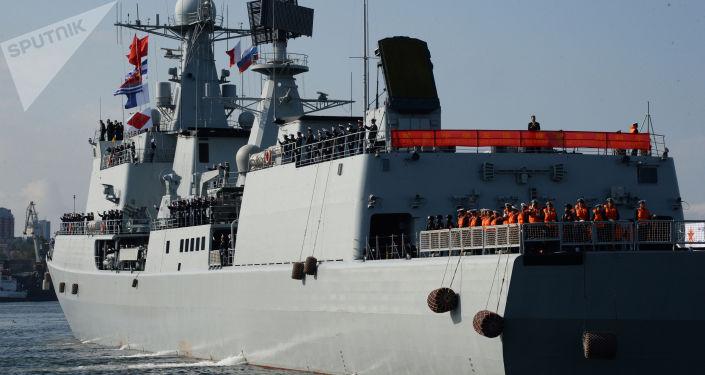 俄中「海上聯合」軍演