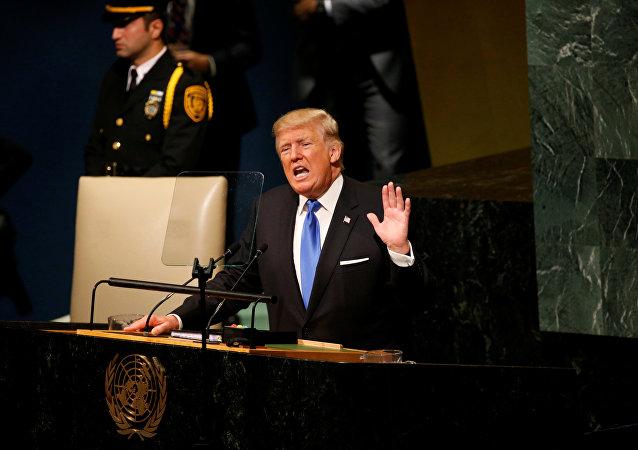 特朗普:如果朝鮮威脅美國 美國將對其實施「徹底摧毀」