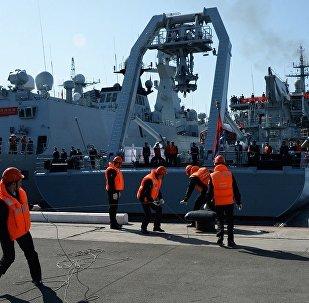 俄中艦艇出海進行「海上聯合-2017」演習積極階段