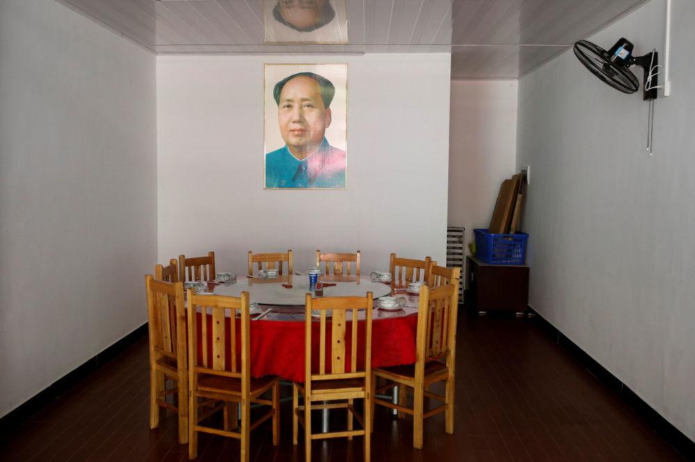 餐厅内的毛主席画像