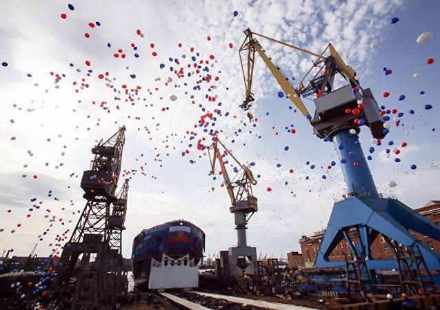 俄西伯利亞號核動力破冰船船體