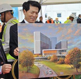 """中国商务中心""""华銘园""""建设工程第一阶段竣工仪式"""