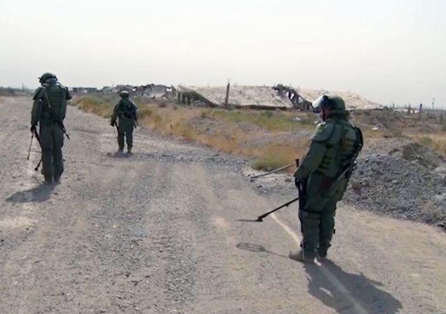 叙政府军继续对阿勒颇省进行排雷工作