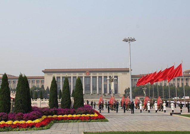 金正恩就中国国庆69周年致电习近平