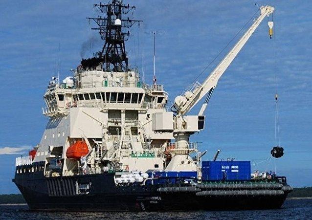 俄联邦海军首次利用海上船只探测得到电子航海图
