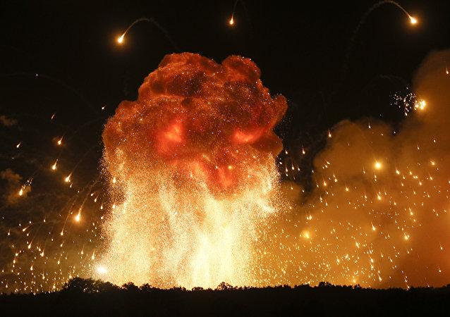 乌克兰文尼察州军火库爆炸