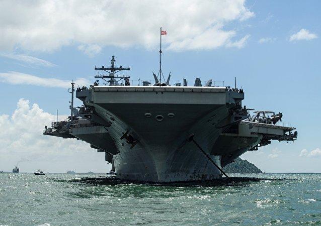"""美军""""罗纳德·里根""""号航母已驶离横须贺港前往亚太地区巡逻"""