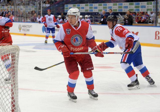 普京将在索契打冰球