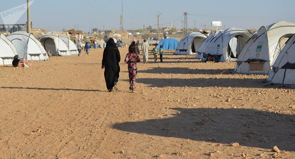 消息人士:在叙利亚美军存在区的难民请求帮助