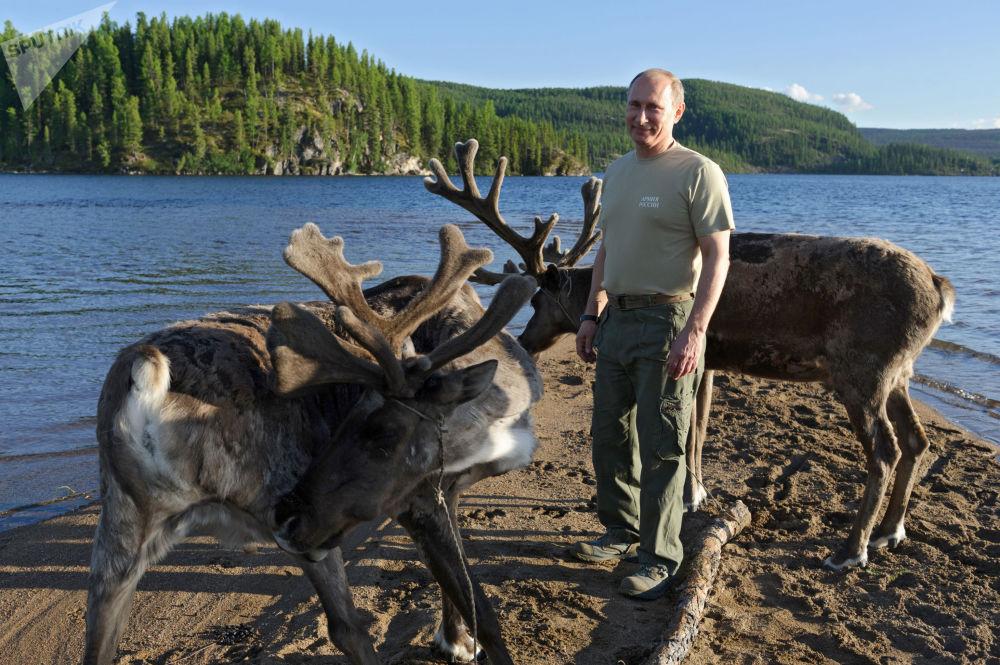 俄联邦总统普京到访图瓦共和国