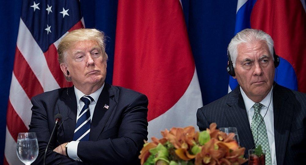 美國總統特朗普與美國務卿卿蒂勒森