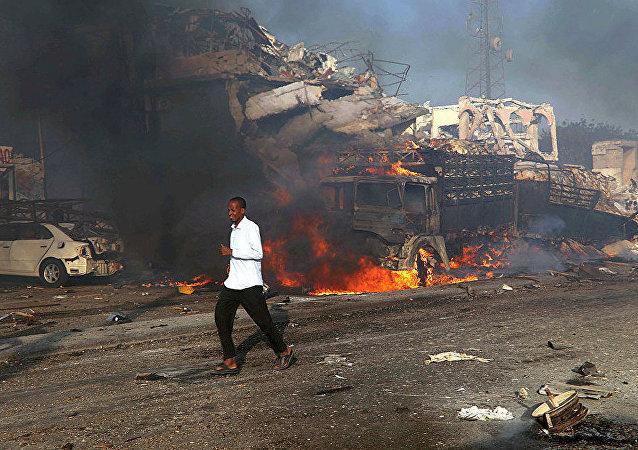 索馬里軍事基地附近發生汽車炸彈爆炸