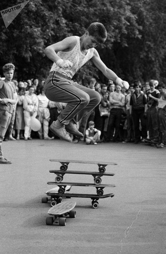 一组罕见的苏联青年照片