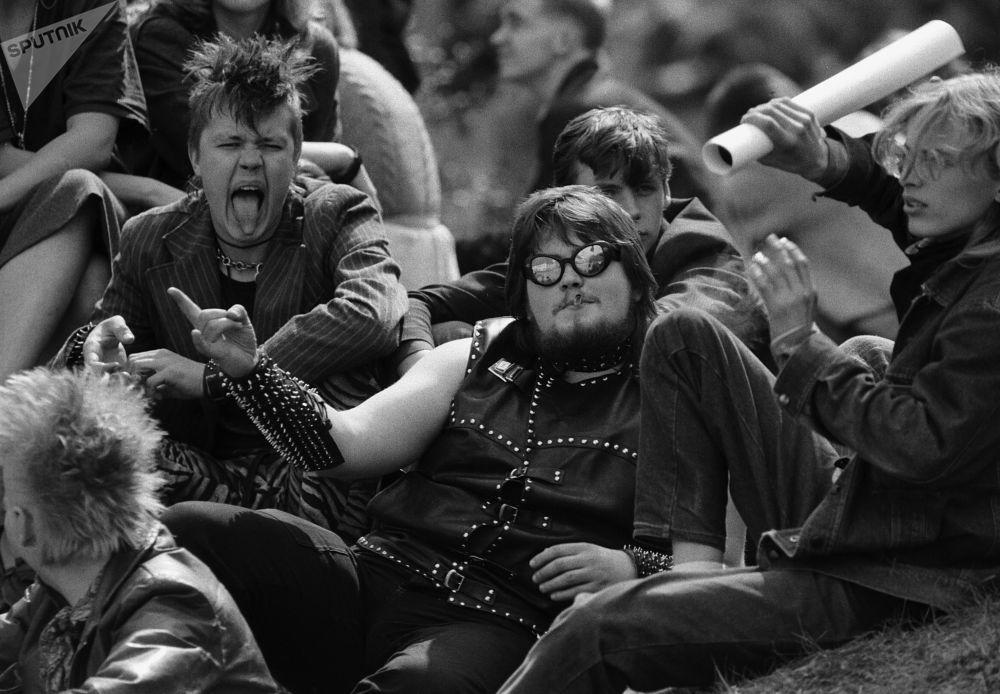音乐节观众,苏联时期的爱沙尼亚,1987年