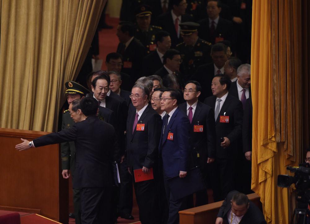 出席十九大开幕式的代表
