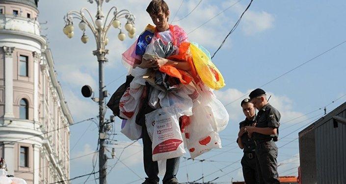 反對使用塑料袋的行動(圖片資料)