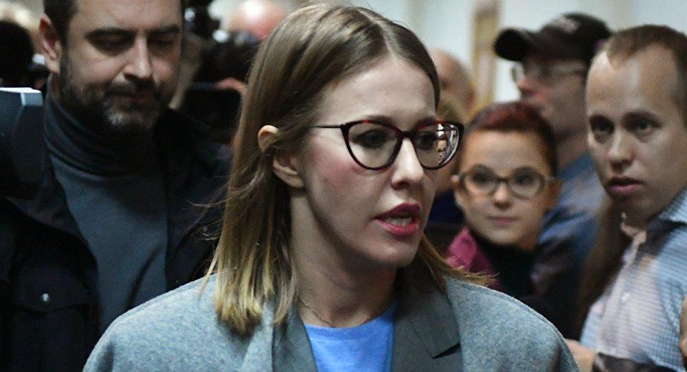 俄罗斯电视女主持克谢尼娅∙索布恰克