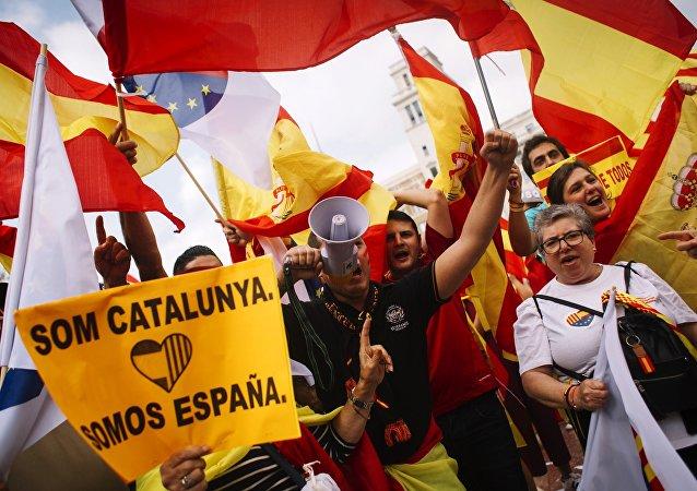 巴塞罗那举行集会