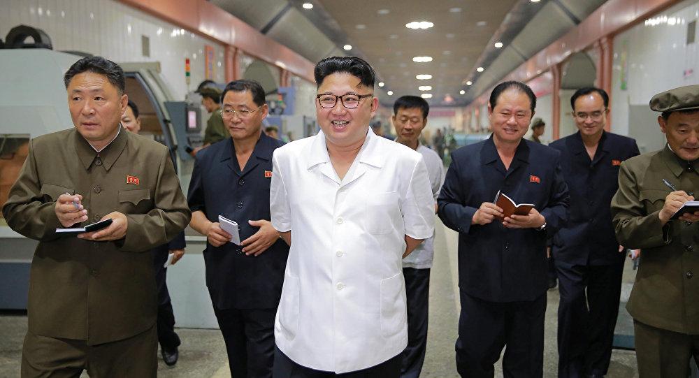 North Korean leader Kim Jong-Un inspects the January 18 General Machine Plant