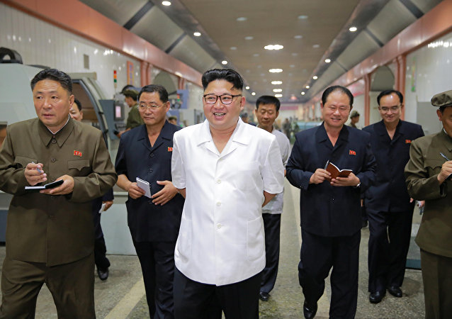 North Korean leader Kim Jong-Un inspects the January 18 General Machine Plant