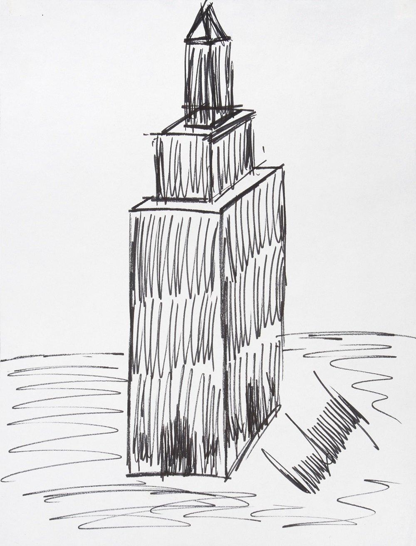 特朗普绘制的帝国大厦草图以1.6万美元拍出