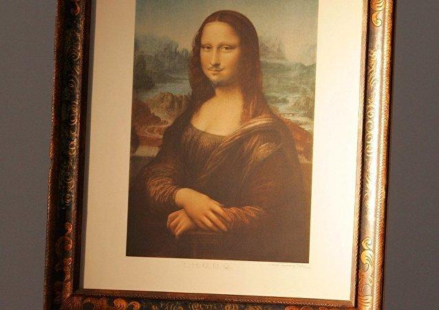 畫著鬍鬚和鬍子的畫作蒙娜•麗莎在巴黎拍得74.3萬美元