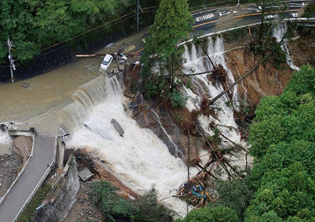日本台风的后果