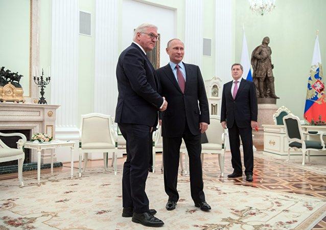 普京:希望德国总统的到访有助于发展俄德关系