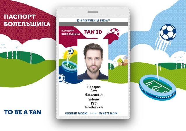 2018年世界杯足球赛球迷护照