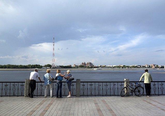 俄布拉戈维申斯克与中国黑河