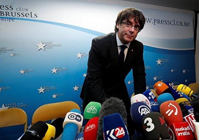 加泰罗尼亚自治区前主席来到布鲁塞尔警局