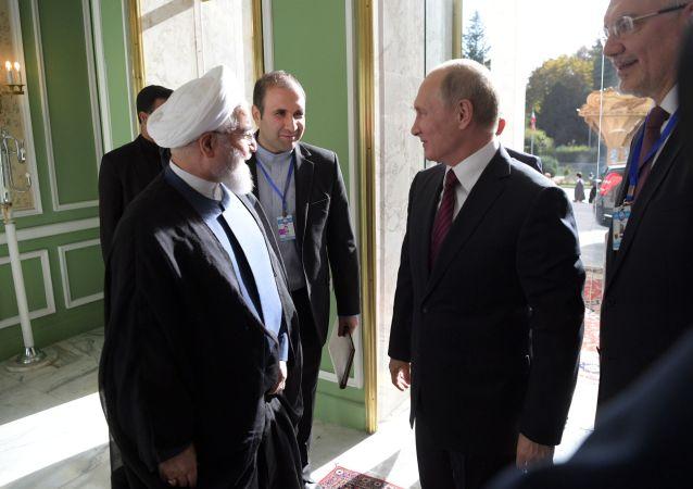 伊朗总统新闻处发布消息称,伊朗与俄罗斯就叙利亚问题的合作将一直持续到彻底战胜恐怖分子