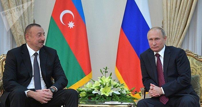 普京就阿利耶夫再次被选为阿塞拜疆总统向其表示祝贺