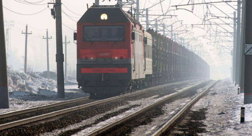俄鐵公司加掛來往中國的集裝箱過境火車的車皮