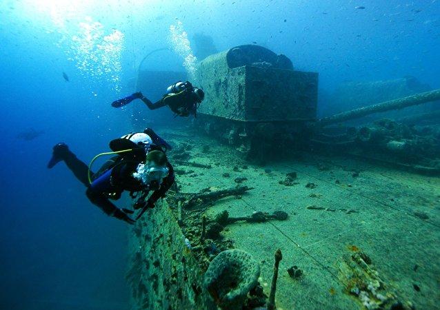 塞瓦斯托波尔海岸附近发现古罗马沉船